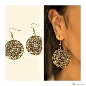 Say You WHEEL - Brass Fishhook Earrings